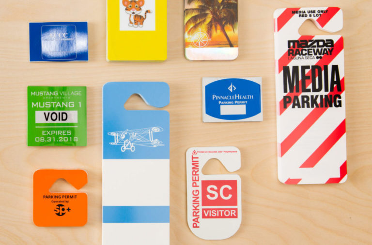 Wholesale Parking Permits and Hang Tags